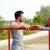 młody · człowiek · równolegle · bary · odkryty · fitness - zdjęcia stock © dolgachov