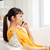 vrolijk · vrouw · roepen · wonen · mobiele · telefoon · vergadering - stockfoto © dolgachov