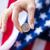 kadın · amerikan · bayrağı · el · gün - stok fotoğraf © dolgachov