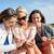 grup · mutlu · kadın · akıllı · telefonlar · plaj · yaz · tatili - stok fotoğraf © dolgachov