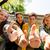 középiskola · diák · remek · kézjel · fiú · áll - stock fotó © dolgachov