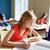 少女 · テスト · 小学校 · 教育 · 学校 - ストックフォト © dolgachov
