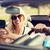 gelukkig · paar · gps · kabriolet · auto · weg - stockfoto © dolgachov