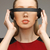 pretty · woman · patrząc · futurystyczny · wysoki · tech · okulary - zdjęcia stock © dolgachov