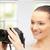 teenage girl with digital camera stock photo © dolgachov