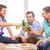 szczęśliwy · mężczyzna · znajomych · pitnej · piwa · domu - zdjęcia stock © dolgachov