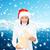 mooie · blijde · vrouw · hoofddoek · bergen · meisje - stockfoto © dolgachov