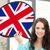 İngiliz · bayrağı · konuşma · balonu · üç · boyutlu · bayrak · yalıtılmış · beyaz - stok fotoğraf © dolgachov