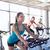 ázsiai · emberek · bicikli · képzés · fitnessz · tornaterem - stock fotó © dolgachov