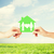 kezek · tart · üvegház · család · ingatlan · családi · otthon - stock fotó © dolgachov