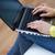 vrouw · student · laptop · online - stockfoto © dolgachov