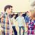 groep · glimlachend · studenten · buitenshuis · vriendschap · mensen - stockfoto © dolgachov