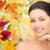 gyönyörű · nő · megérint · arc · ősz · szépség · emberek - stock fotó © dolgachov