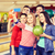 jeunes · femmes · jouer · bowling · jeunes · amis - photo stock © dolgachov
