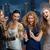 mosolyog · női · barátok · borospoharak · szépség · nyár - stock fotó © dolgachov