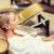 женщину · ванны · халат · Spa · халат · расслабляющая - Сток-фото © dolgachov