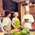szczęśliwy · znajomych · gotowania · kuchnia · klasy - zdjęcia stock © dolgachov