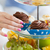 mão · bolo · suporte - foto stock © dolgachov