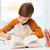öğrenci · erkek · kitap · yazı · defter · ev - stok fotoğraf © dolgachov