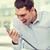 telefon · tárgyalás · portré · főnök · beszél · telefon - stock fotó © dolgachov
