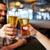 feliz · masculina · amigos · potable · cerveza · bar - foto stock © dolgachov