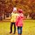 iki · kızlar · sonbahar · park · açık · atış - stok fotoğraf © dolgachov