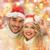 sonriendo · Pareja · nieve · invierno · vacaciones · Navidad - foto stock © dolgachov