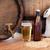 cerveja · barril · cão · proprietário · isolado · branco - foto stock © dolgachov