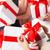 женщины · рук · открытие · Рождества · подарок - Сток-фото © dolgachov