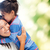 hugging mother and daughter stock photo © dolgachov