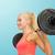 emberek · fekvőtámaszok · súlyzó · tornaterem · testmozgás · nő - stock fotó © dolgachov