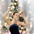 mutlu · kadın · dans · noel · ağacı · ışıklar · tatil - stok fotoğraf © dolgachov