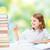 gelukkig · meisje · boeken · notebook · school · onderwijs · mensen - stockfoto © dolgachov