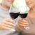idős · pár · iszik · vörösbor · otthon · konyha · nő - stock fotó © dolgachov