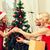 küçük · kız · Noel · sepet · tok · süslemeleri - stok fotoğraf © dolgachov