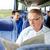 幸せ · シニア · 男 · 読む · 新聞 · 旅行 - ストックフォト © dolgachov