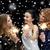 genç · kadın · Noel · havai · fişek · eğlence · izlerken - stok fotoğraf © dolgachov