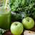 close up of jug with green juice and vegetables stock photo © dolgachov
