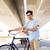 человека · зафиксировано · Gear · велосипедов · моста - Сток-фото © dolgachov