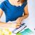 女性 · 作業 · 色 · インテリアデザイン - ストックフォト © dolgachov