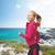 スポーティー · 女性 · を実行して · ジャンプ · フィットネス · ダイエット - ストックフォト © dolgachov