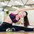 fitnessz · edző · nyújtás · arc · boldog · egészség - stock fotó © dolgachov