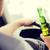 condução · bêbado · garrafa · jaqueta · chaves · do · carro · branco - foto stock © dolgachov