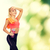 menina · laranja · corpo · desgaste · belo · mulher · jovem - foto stock © dolgachov