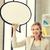 glimlachend · zakenvrouw · tekst · bubble · heldere · foto - stockfoto © dolgachov