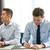 groupe · souriant · gens · d'affaires · réunion · bureau · gens · d'affaires - photo stock © dolgachov