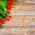 piros · tulipánok · fa · asztal · szívek · kék · felső - stock fotó © dolgachov