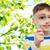 szczęśliwy · dziecko · charakter · lupą · funny - zdjęcia stock © dolgachov