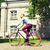 man · fiets · buitenshuis · glimlachend · glimlach - stockfoto © dolgachov