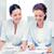 boldog · üzleti · csapat · törik · iroda · nők · beszélget - stock fotó © dolgachov
